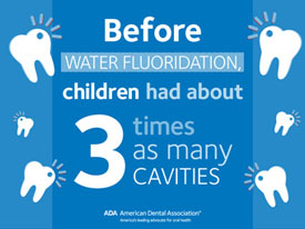 Before fluoridation children had about 3 times as many cavities.